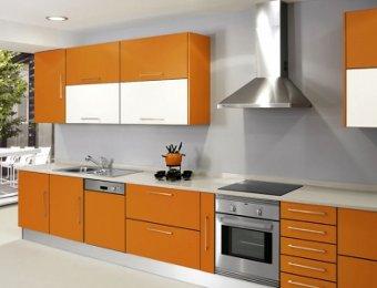Decorar una cocina de color naranja el tono de moda - Cocinas naranjas y blancas ...
